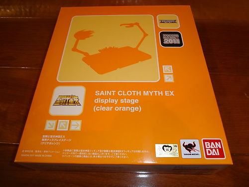 Saint Cloth EX Display Stage (Clear Orange) Tamashii 2011 NEW